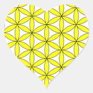 FOL amarillo Pegatina En Forma De Corazón