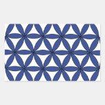 FOL azul Pegatina Rectangular