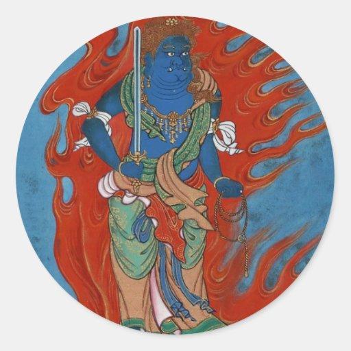 Folclore hindú pegatina redonda