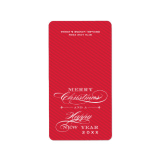 (FOLD OVER) CHRISTMAS LABELS :: lapel 7P