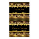 Fold Over Classy Gold Black Leopard Animal Print Business Cards