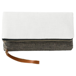 Fold-over Clutch, Charcoal Clutch