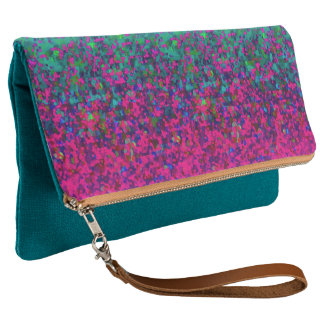 Fold-Over Clutch Glitter Dust Background