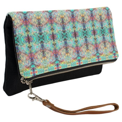 Fold Over Clutch Opal Abstract