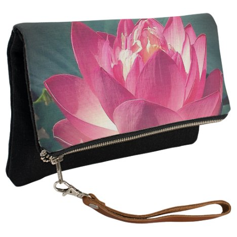 Fold Over Clutch Pink Lotus