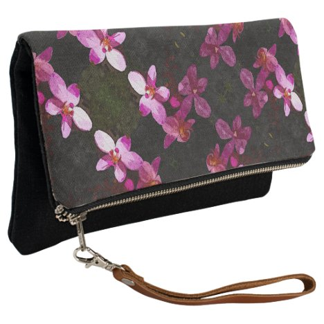 Fold Over Clutch Pink Orchid Trio