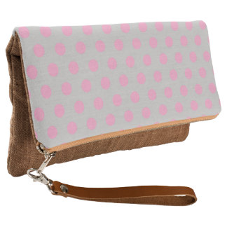 Fold-Over Clutch Polkadots