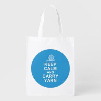 Foldable reusable grocery tote bag yarn tote bag market totes