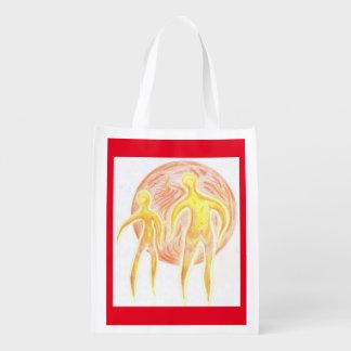 Foldaway Re-useable Bag Aliens Art Reusable Grocery Bags