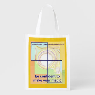 Foldaway Re-useable Bag Confidence Quote / Art Reusable Grocery Bag