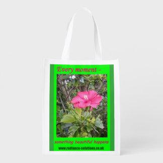 Foldaway Re-useable Bag Flower Philosophy Inspired Market Totes