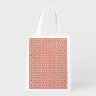 Foldaway Re-useable Bag Heart Kiss Design Grocery Bags