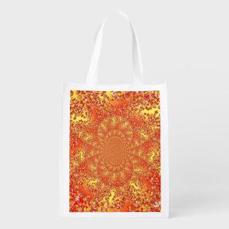 Foldaway Re-useable Bag Marble Patch Digital Art Reusable Grocery Bags