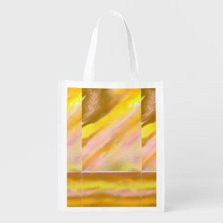 Foldaway Re-useable Bag Sun Lake Art Reusable Grocery Bags