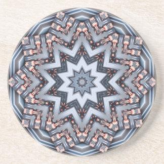 Folded Angles Mandala Coaster