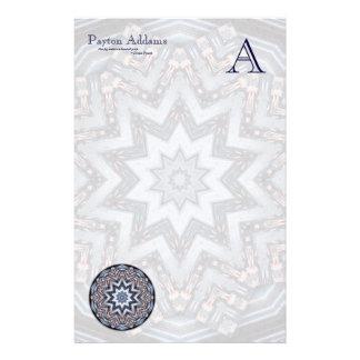 Folded Angles Mandala • Monogram Stationery