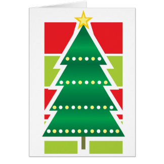 Folded Christmas Tree Greeting Card