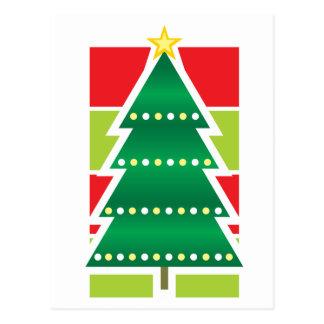 Folded Christmas Tree Postcard