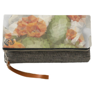 Folded Clutch wallet Design Geometric Cactus