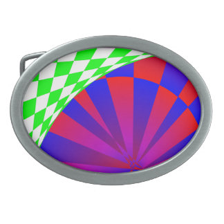 Folded Dimensions Oval Belt Buckles
