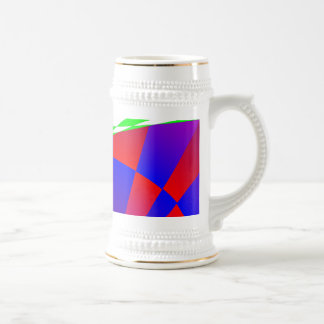 Folded Dimensions by Kenneth Yoncich Beer Stein