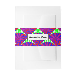 Folded Dimensions (Personalized) Invitation Belly Band