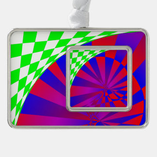 Folded Dimensions Silver Plated Framed Ornament
