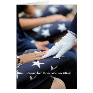 Folded Flags Memorial Greeting Card