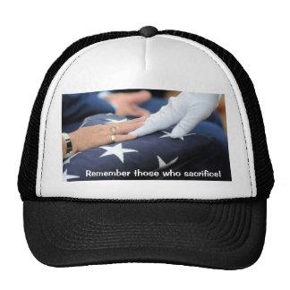 Folded Flags Memorial Trucker Hat