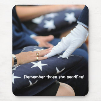 Folded Flags Memorial Mouse Pad