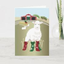 Folded Greeting Card 'Christmas Socks'