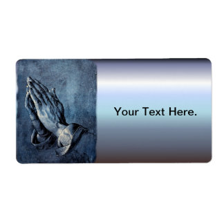 Folded Hands Prayer - Durer Label