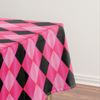 Folded Harlequin,Pink-Black-52x70 TABLECLOTH