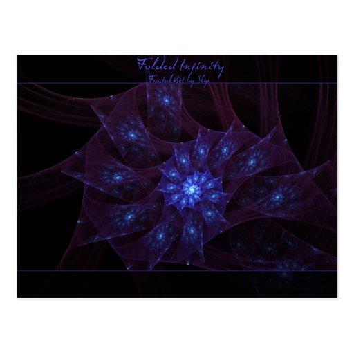 Folded Infinity Fractal Postcard