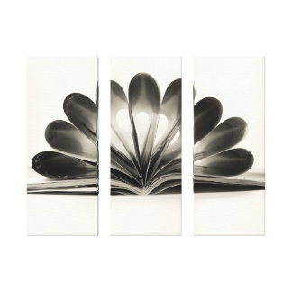 Folded Magazine Triptych Wrapped Canvas Stretched Canvas Print