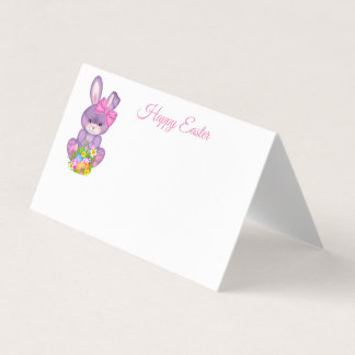 Folded Name Place Card-Easter Bunny Place Card