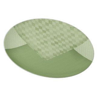 Folded Napkins (green) Dinner Plate