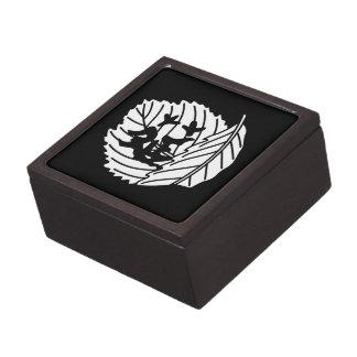 Folded oak leaf worm-eaten keepsake box