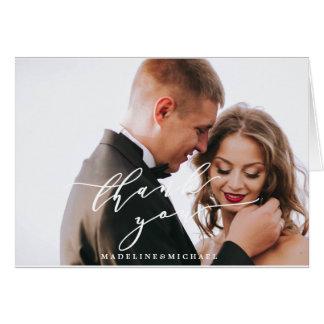 Folded Photo Wedding Thank You Note Card