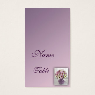 Folded Table places card