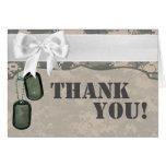 Folded Thank You Card ARMY ACU Uniform Camo Camouf