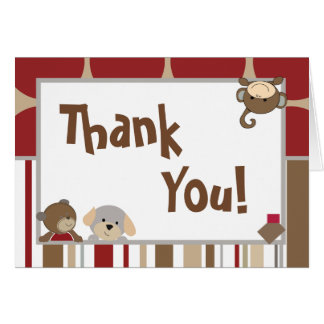 Folded Thank You Card Cocalo Buttons