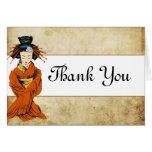 Folded Thank You Card Geisha