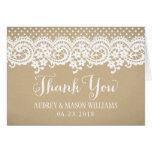 Folded Thank You Card | Kraft Brown