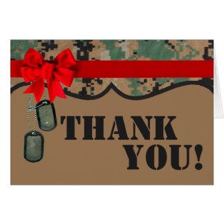 Folded Thank You Card Marine DIGITAL PRINT Uniform