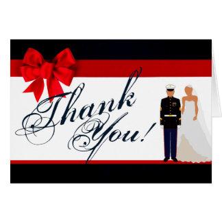 Folded Thank You Card Marine Hispanic Uniform Groo