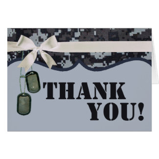 Folded Thank You Card Navy DIGITAL PRINT Uniform