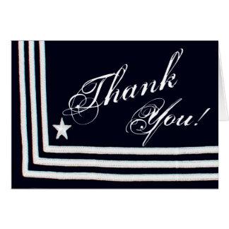 Folded Thank You Card Navy Summer Dress Blues