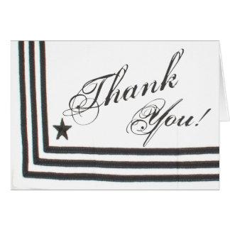 Folded Thank You Card Navy Summer Dress Whites Uni