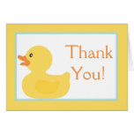 Folded Thank you Card Rubber Ducky Bubbles